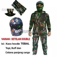 Ready Stock Stelan Baju Kamo/Kamuflase. Setelan Baju Hunting/Berburu -