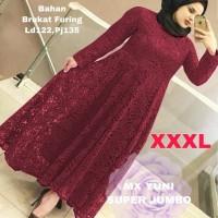 MAXI YUNI SUPER JUMBO XXXL MAROON [Gamis 0121] SLD Baju Gamis Wanita