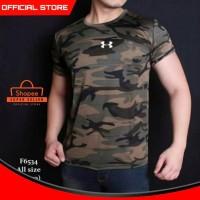 Baju Kaos Pria Army Gym Fitness Loreng