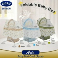 Box Pliko 608Cn / Foldable Baby Bed Pliko Oval Bisa Ayun Goyang