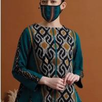 Gianti Tenun T0641,Baju atasan blouse batik wanita modern Nonarara - S
