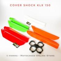 Cover shock depan KLX 150 plus klem / tutup shock depan KLX 150