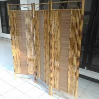 PREMIUM Pembatas ruangan/Sketsel/Partisi dari Bambu Cendani Jogjakarta
