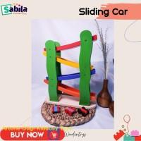 Mainan Edukasi Anak dr Kayu : SLEEDING CAR MOBIL umur 2 tahun ke atas