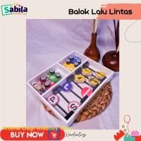 Mainan Edukasi Anak dari Kayu BALOK LALU LINTAS usia 2 tahun ke atas