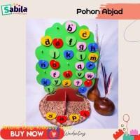 Mainan Edukasi Anak dari Kayu : POHON ABJAD untuk usia 2 tahun ke atas