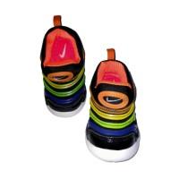 (Sa00129nik) sepatu anak nike hitam kombinasi biru hijau kuning orange