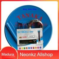 Paket Antena Parabola Mini Ninmedia + Receiver Skybox A1 New Lengkap