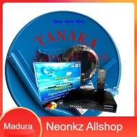 Antena Parabola Mini & Receiver Ninmedia Lengkap Siap Pasang