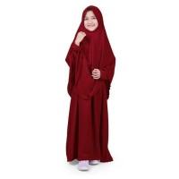 Promo Bajuyuli - Baju Muslim Anak Perempuan Gamis Syar'i Polos Marun
