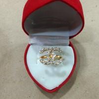 cincin channel mata putih 2 gram emas muda
