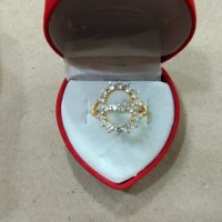 cincin mata putih angka delapan 2 gram emas muda