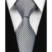 Dasi Panjang Pria Motif Salur Hitam / Black - Lebar 3 inch ( 7 - 8cm)