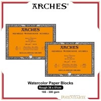 Kertas Cat Air Arches Rough 36x51cm Watercolor Paper Blocks - 300 gsm