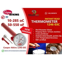 Cooper-Atkins 1246-03C Bi-Metal Pocket Test Thermometer, 10-285 oC