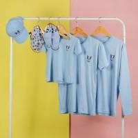 Pop Kidswear Frenchie Blue Couple Tee - kaos anak dewasa dog squad