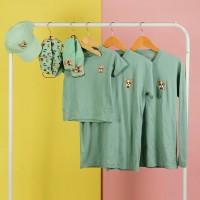 Pop Kidswear Corgi Green Couple Tee - kaos keluarga dog squad hijau
