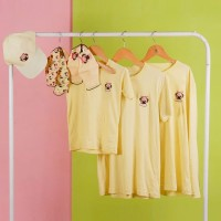Pop Kidswear Pug Yellow Couple tee - kaos anak dewasa dog squad kuning