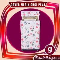 WMC007 - Bunga Biru Merah Cover Mesin Cuci /Washing Machine Cover