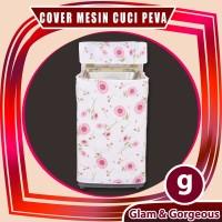 WMC010 - Bunga Sunflower Cover Mesin Cuci /Washing Machine Cover
