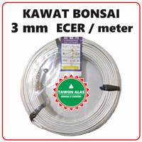 Kawat Aluminium Putih Eceran 3mm