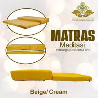 Matras / Bantal / Alas Meditasi (Bantal Doa/Duduk) Persegi Cream