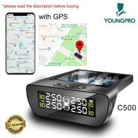 GARANSI 12 BULAN YOUNGPRO C500 TPMS + GPS SOLAR PENGUKUR TEKANAN BAN