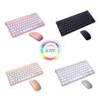 CIJI Paket Keyboard Wireless + Mouse Wireless Silent Desain Ultrathin - Hitam
