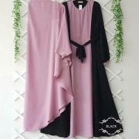 Baju Gamis Syari Set Khimar Hijab Remaja kekinian Modern Murah Terbaru