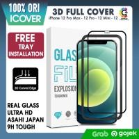 Original iCover Tempered Glass iPhone 12 Pro Max 12 Mini 12 Anti Gores