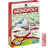 Hasbro Games B1002 Monopoly Grab and Go Board Game Original