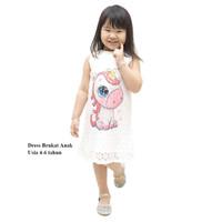 Dress Brukat Anak Perempuan Dress Brokat Baju Dress Pesta Anak Import - Umur 4-6 Tahun