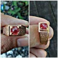 Cincin batu akik Ruby srilangka ring perak asli batu ruby