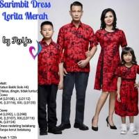 New Sarimbit dress IMLEK LORITA MERAH seragam batik keluarga baju anak