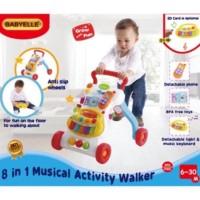 Dl493 Babyelle Musical Activity 8 In 1 Babywalker Baby Walker Mainan B