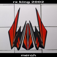 sticker striping body lis motor rx king 2002 merah