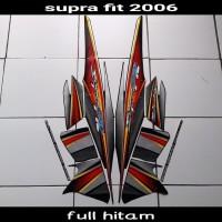 sticker striping body lis motor supra fit new 2006 full hitam