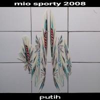 sticker striping body lis motor mio sporty 2008 putih