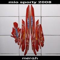 sticker striping body lis motor mio sporty 2008 merah
