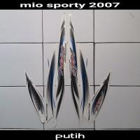 sticker striping body lis motor mio sporty 2007 putih