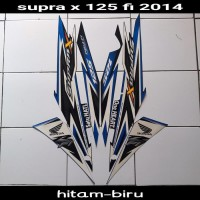 sticker striping body lis motor supra x 125 fi 2014 hitam-biru