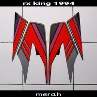 sticker striping body lis motor rx king 1994 hitam-merah