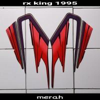 sticker striping body lis motor rx king 1995 hitam-merah