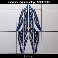 sticker striping body lis motor mio sporty 2010 biru