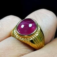 Natural Batu Ruby Madagascar Top Colour Plus Ring Titanium HQ