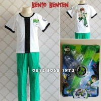 PROMO BAJU KOSTUM ANAK KARAKTER SUPERHERO BEN10 BENTEN BEN 10 5-8