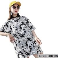 CentCentStore T-shirt / Kaos Wanita Jumbo Komik - Fit XXL