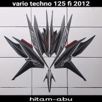 sticker striping body lis motor vario techno 125 fi 2012 hitam