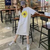 Delmis Dress Bigsize Fashion Wanita Baju Kaos Tunik Dress BigSize