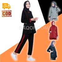 Baju Pakaian Setelan Stelan Olahraga Senam Wanita Muslimah Muslim HILY